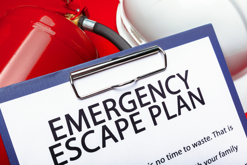 emergency escape plan clipboard checklist